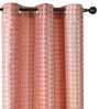 Deco Essential Red Polyester 46 x 90 Inch Jacquard Eyelet Door Curtain - Set of 2