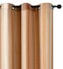 Deco Window Brown & Beige Polyester 46 x 90 Inch Door Curtain - Set of 2