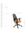 Decor Ergonomic Chair in Yellow & Black Colour by Starshine