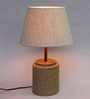 Agacia Table Lamp in Natural by CasaCraft