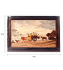 Mantapas Red Rosewood Village Scene Inlay Wall Panel