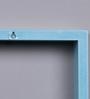 DecorNation Black & Sky Blue MDF Nesting Square Wall Shelves - Set of 6