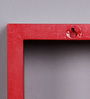 DecorNation Red & Sky Blue MDF Nesting Square Wall Shelves - Set of 6