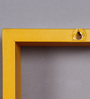 AYMH Red & Yellow MDF Nesting Square Wall Shelves - Set of 6