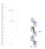 AYMH White MDF Corner Unit Zigzag Shape Wall Shelf
