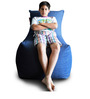 Denim Chair Bean Bag (Cover Only) XXL size in Blue DenimColour  by Style Homez