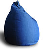 Denim Classic Bean Bag XXL size in Blue Colour with Beans by Style Homez