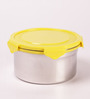 Deseo Penta Yellow Stainless Steel 1.05 L Storage Container - Set of 2