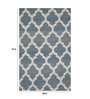 Designs View Blue Wool 72 x 48 Inch Hand Made Geometric Design Area Rug