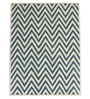 Designs View Ivory & Green Wool & Cotton 60 x 96 Inch Hand Tufted Ziggy Design Rug