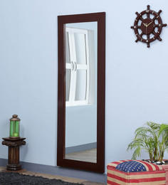 DHI Natural Pine Wood Rajputana Handcrafted Full Length Mirror - 1582284