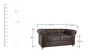 Diamond Two Seater Sofa in Brown Leatherette by Parin
