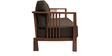Dijon Three Seater Sofa in Dark Brown Colour by Auspicious Home