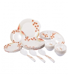 Diamond Crockery Melamine Dinner Set of 34 Pcs