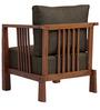 Dijon One Seater Sofa in Dark Brown Colour by Auspicious