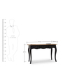 Dinan Desk in Black & Natural Finish by The ArmChair