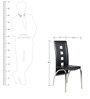 Dining Chair in Black Colour by Parin (Set of 2)