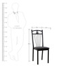 Dining Chair in Black Colour Furniture (Set of 2) by Penache Furnishing