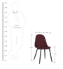 Dining Chair Set of 2 in Magenta Colour by Parin