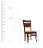 Dining Chair with Curved Back by Maruti Furniture