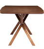 Six Seater Wooden Dining Set in Brown Colour by Parin