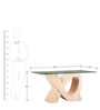 Six Seater Dining Table with Wooden Legs in Natural Finish by Parin