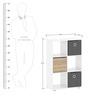 Katsuo Book Shelf in Gloss White Finish by Mintwud