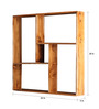 Valentin Contemporary Wall Shelf in Brown by CasaCraft