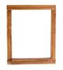 Divine Decor Rome Walnut Brown Teak Wood Wall Shelf