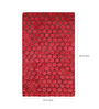 Divine Red Polyester 60 x 35 Inch Concave Area Rug