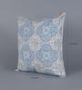 Diwa Home Blue Cotton 16 x 16 Inch Suzani Cushion Cover