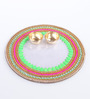 Largessee Multicolour Acrylic Diwali Neon Stone Aarti Plate