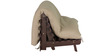 Double Futon with Mattress in Beige Colour by Auspicious