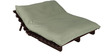 Double Futon with Mattress in Grey Colour by Auspicious