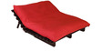 Double Futon with Mattress in Red Colour by Auspicious