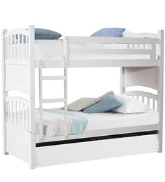 McLamar Bunk Bed With Pull Out In White Finish By Mollycoddle
