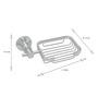 Dolphy Silver Aluminium Utility Tray - Set of 2