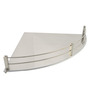 Dolphy Silver Stainless Steel 12 Inch Corner Shelf