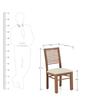 Dortmund Dining Chair in Natural Finish by @Home