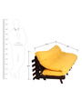 Double Futon Sofa Cum Bed With Mattress - YELLOW by ARRA