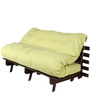 Double Futon Sofa Cum Bed with Mattress in Green by Arra