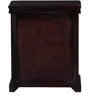 Bampton Bed Side Table in Passion Mahogany Finish by Amberville