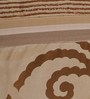 Dreamscape Brown Poly Cotton Bed Cover - Set of 3