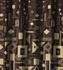 Dreamscape Coffee Polyester 84 x 47 Inch Abstract Eyelet Door Curtains - Set of 2