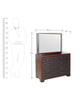 Dressing Table in Brown Colour by Parin