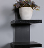 DriftingWood Black MDF  5 Tier Floating Wall Shelf