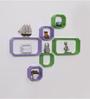 Driftingwood Green & Purple MDF Octagon Shape Wall Shelf - Set of 6