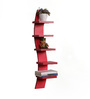 DriftingWood Red MDF Curvy 5 Tier Floating Wall Shelf