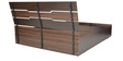 Duke King Bed with Top Storage in Wenge Colour by Crystal Furnitech