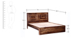 Dover King Bed in Provincial Teak Finish by Woodsworth